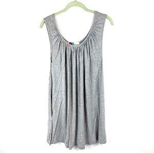 Free People Beach grey tunic mini dress